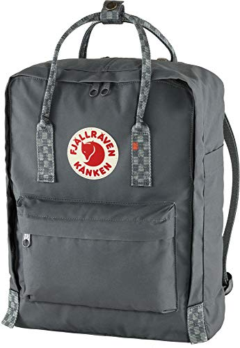 Fjällräven Unisex-Adult Kånken Sports Backpack, Super Grey-Chess Pattern, One Size