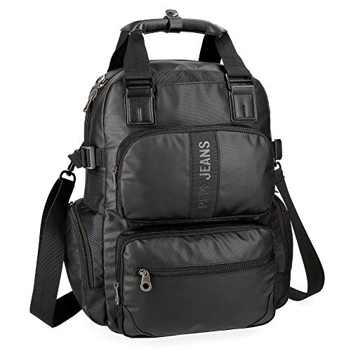 Mochila casual Pepe Jeans Bromley Negra 13,3'