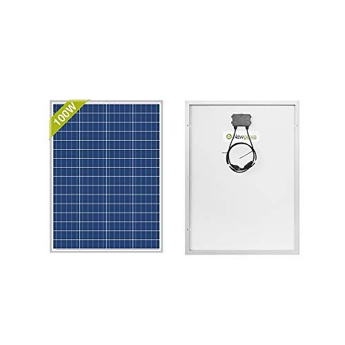 Newpowa 100 W (Watt) 12 V (Volt) Pannello solare policristallino ad alta efficienza fotovoltaica Policarbonato per camper, case da giardino, barche