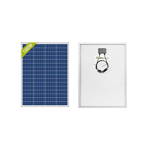 Newpowa 100 Watts 12 Volts Polycrystalline Solar Panel for Marine Boat