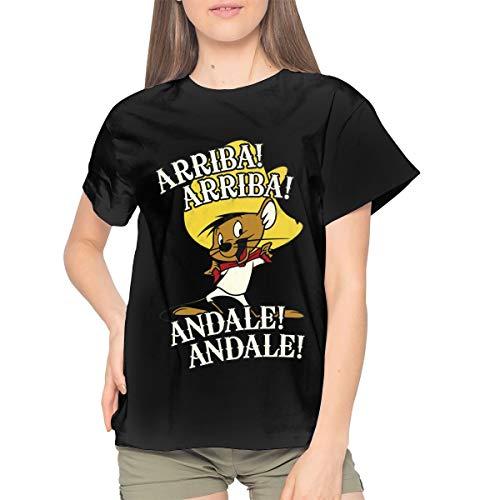 MichaelRoberson Speedy Gonzales Womens T Shirt Cool Woman T-Shirt XL Black