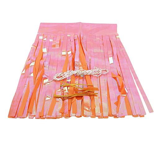 unknow QIWei Shiny Paper Tassels Fringe Banner DIY Kit Party Hanging Garland For Wedding Christmas,Orange