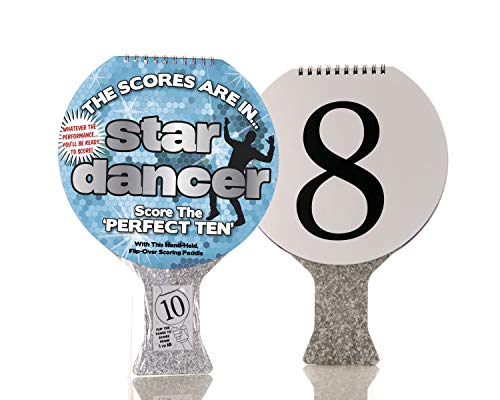 Boxer Gifts Paddle | Score Your Dad's Terrible Dancing | Fun for All The Family | for Parties, Birthday or Christmas Star Dancer (US Version), Silver