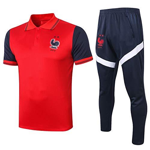 Das Neue Fußball Kleidung Verein lose beiläufige Männer Home Sport Anzug Trainingsanzug Jersey-Oberteile und Hosen BX0035 Komfortabel (Size : L)