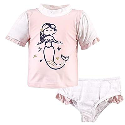 Hudson Baby Hudson Baby Unisex Baby Swim Rashguard Set, Pink Mermaid, 5 Toddler
