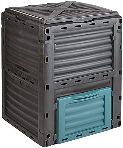YANLAN Caja de Compost de Compost de 300 l Grandes, Caja de Compost - Fácil Montaje de Basura de la Cocina de la Cocina de la Caja del jardín,Blue