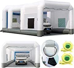 GORILLASPRO Inflatable Spray Booth 26x15x10Ft, Inflatable Paint Booth with 2 Blowers (750W+950W)?Portable Paint Booth Upgrade Air Filtration System More Durable