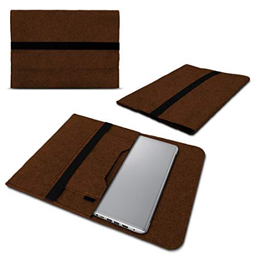 UC-Express Laptop Schutzhülle aus strapazierfähigem Filz mit praktischen Innentaschen Sleeve Hülle Tasche Cover Notebook Hülle Tasche, Farbe:Braun, Notebook:Lenovo ThinkPad Edge 13.3