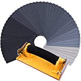 SIQUK 48 Pezzi Carta Abrasiva Secco e Umido Grinta 120 a 7000 Assortimento di Carta Vetrata con Levigatrice per Carteggiatura 9 x 3,6 Pollici per Automotive di Levigatura Mobili in Legno di Finitura