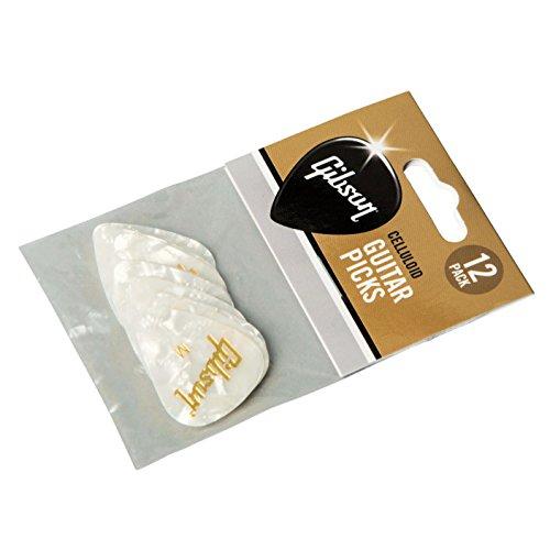 Gibson - Púas de perlas blancas (tamaño mediano)