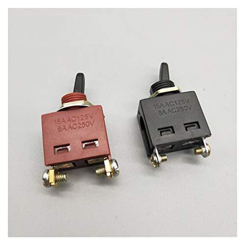 Kfdzsw Interruptores Palanca Cambiar de Herramienta eléctrica Amoladora Angular eléctrica de Corte del Taladro de Martillo eléctrico del Interruptor eléctrico 15A / 250V