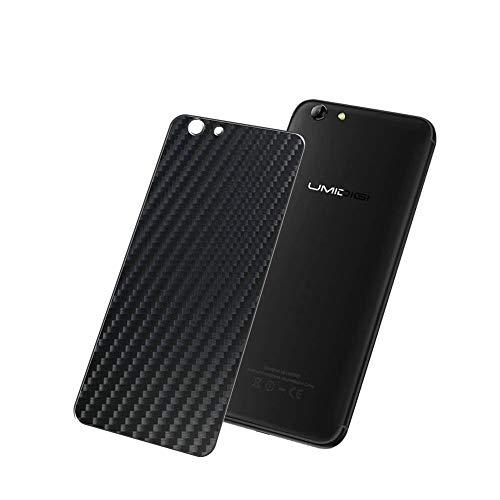 Vaxson 2-Pack Pellicola Protettiva Posteriore, compatibile con Umidigi C Note 2, Back Film Protector Skin Cover [ Non Vetro Temperato ] - Fibra di Carbonio Nera