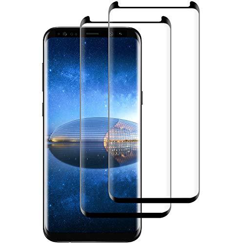 DASFOND 2 Pezzi,Vetro Temperato per Samsung Galaxy S8 Plus, Pellicola Protettiva Vetro per Samsung Galaxy S8 Plus, 9H Durezza, Anti-Graffi, Anti Impronta, Senza Bolle, Samsung S8 Plus Tempered Film
