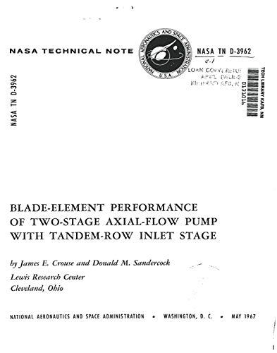 Blade-element performance of two-stage axial-flow pump with tandem-row inlet stage (English Edition)
