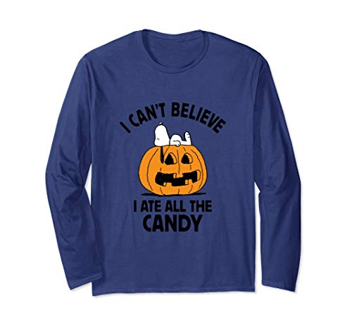Peanuts Halloween Snoopy All The Candy Long Sleeve T-Shirt