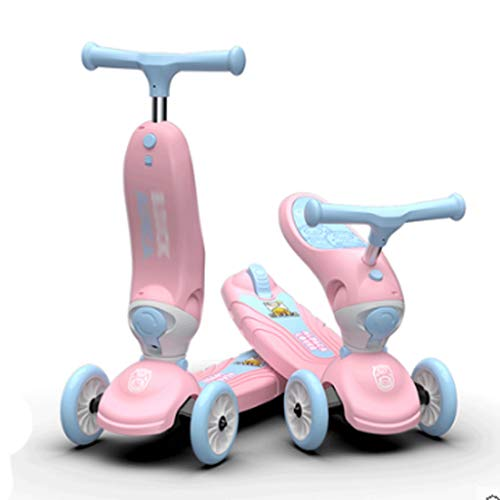 Roller für Kinder 2-in-1-Design- und Multifunktions-Roller für Kinder Alters 3-12 Jahre alt mit verstellbarem...