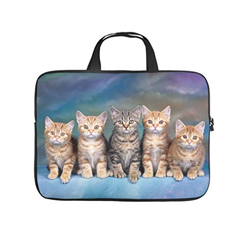 Funda impermeable para portátil con diseño de gato familiar, ideal para el trabajo o el negocio