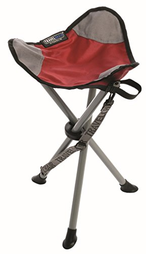 TravelChair Slacker Chair, Portable Tripod Chair for Outdoor Adventures, Red, One Size (1389VR)