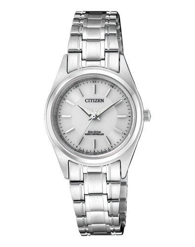 CITIZEN Damen Analog Solar Uhr mit Edelstahl Armband ES4030-84A