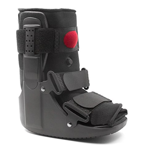 Medical ankle boot designed to treat soft tissue injuries, grade 2 and 3 sprains, and stable fractures Inflatable air bladder on our walking cast boot provides custom compression to the foot and ankle, increasing stability and decreasing swelling Com...