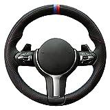 Shining wheat Funda de cuero genuino para volante de coche M Sport F30 F31 F34 F10 F11 F07 F12 F13 F06 X3 F25 X4 F26 X5 F15 M50d X6 F16 M50d F20 F21 M135555555 i M140 I