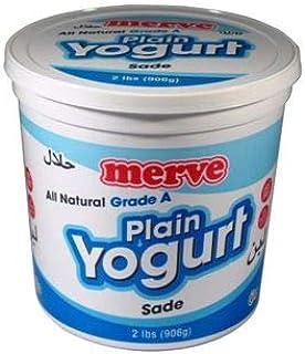 Merve Plain Turkish Yogurt (Greek Yoghurt) 2lb (2 pack) Total 4lb
