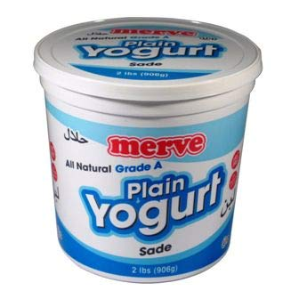 Merve Plain Turkish Yogurt (Greek Yoghurt) 2lb (2 pack) Total 4lb