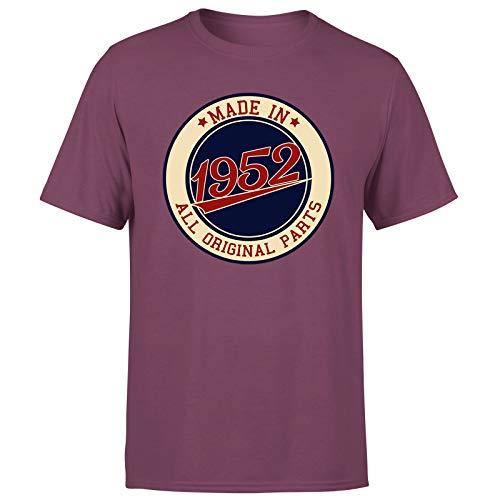 Made in 1952 Aged to Perfection - Camiseta de regalo de 69 cumpleaños para hombre