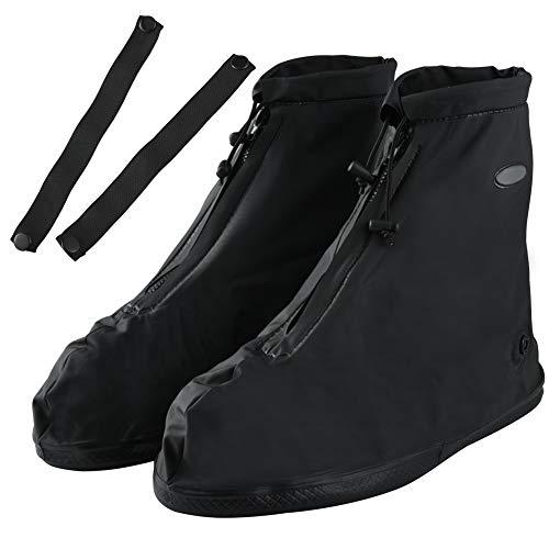 Soumit - Cubrezapatos impermeables para día de lluvia, fundas para zapatos reutilizables para exteriores, casa, hotel, antipolvo y cortavientos