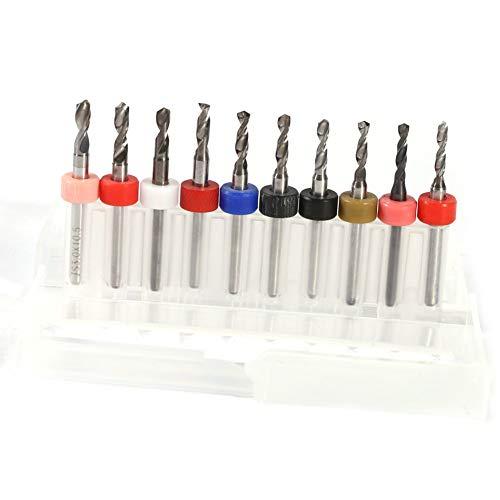 10pcs Drill Bits Set PCB Drill Bit Carbide Drill Tool for Craft Work 2.1mm-3.0mm