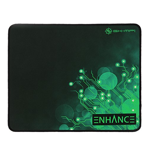 ENHANCE Large Gaming Mouse Pad XL - Big Mouse Mat, Anti-Fray Stitching, Non-Slip Rubber Base, High Precision Tracking for Thick Mousepad Smooth Cloth Fabric Professional Esports Mat (Green)