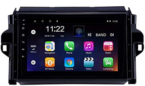 Compatible con Toyota Compatible con tuner / Covert 2015-2018 Android 9.0 Car Stereo Radio Double Din Sat Nav Navegación GPS Reproductor multimedia con pantalla táctil de 9 pulgadas Receptor de video