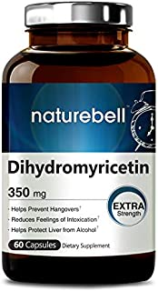 NatureBell Dihydromyricetin as Hovenia Dulcis Extract 350mg, 60 Capsules, Support Hangover Prevention, Support Relief of Anxiety, Headache and Brain Fog After Drinking, No GMOs and Made in USA.