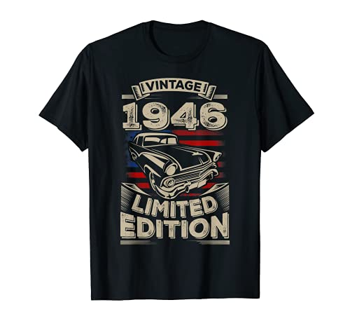 Vintage 1946 75th 75 Years Old birthday Gifts For Women Men T-Shirt