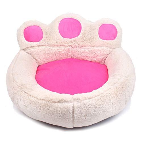 QINYA Cama para mascotas 2 en 1 Cama para gatos y perros, sofá cama para gatos y perros pequeños (S, blanco)