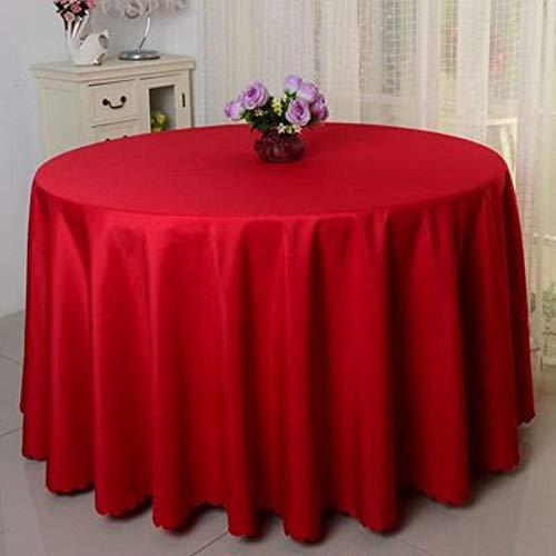 EDCV Wedding Hotel Tafelkleed Tafelkleed Overlay tapetes Tafelkleed Zwart 10PCS Polyester Rond Wit Tafelkleed Voor, rood