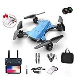 XUXN Drone FPV WiFi, Quadricoptère RC Pliable avec caméra 4K HD, Jouet Davion Portable pour Les débutants avec contrôle de la gravité, Suivi dimage, Double caméra