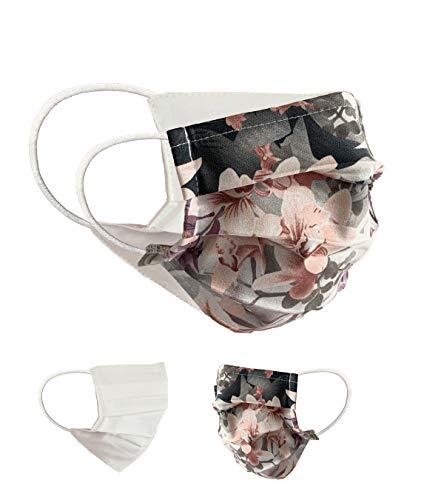 Community Masken 2er Pack Set Unisex Behelfsmaske Wendbar Mundschutz Maske Mund- und Nasenschutz Wendemaske mit Motiv Baumwolle BCI Waschbar