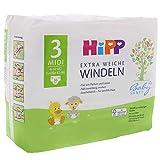 HiPP Babysanft Windeln für Babys, Geeignet von 6-10 kg, Gr. 3 (62-80), 3 Tragepack, 36 Stück - 7