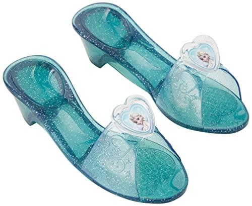 Rubie's 36170 Elsa Frozen - Zapatos con purpurina para niñas, Azul, Talla única