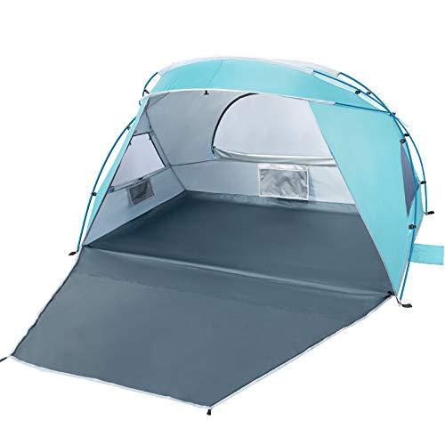Forceatt 2-3 Personen Beach Camping Schatten Zelt,Sonnenschutz UPF50 +, einfache Installation, leicht und leicht zu tragen, Strandcamping am Meer ist die erste Wahl.