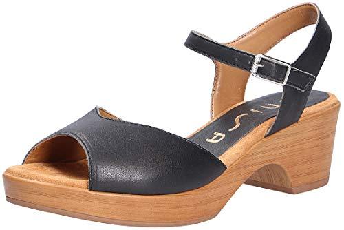 Unisa dames sandalen zwart