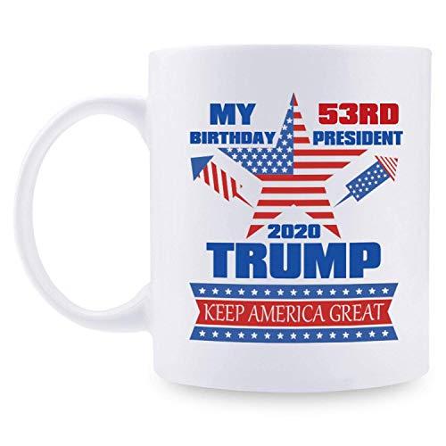 ivertidos regalos de cumpleaños 53 para mujeres - Taza de cumpleaños 53 de Trump, 1967 Regalos de cumpleaños de 53 años, tazas de broma de feliz cumpleaños 53 para ella, amiga, mamá, hermana, esposa,