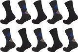 Pierre Cardin 10 Paar Herren Business-Socken, Anzug-Socken 75prozent Baumwolle Stark Reduziert (43-46, Schwarz)