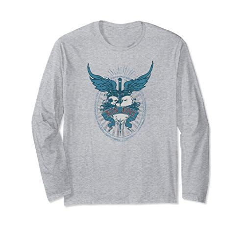 Bon Jovi Winged Heart Long Sleeve T-Shirt, Unisex