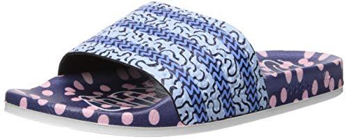 adidas Originals Women's Adilette Slide Sandal, Collegiate Navy/Glow Real Blue, 7 M US