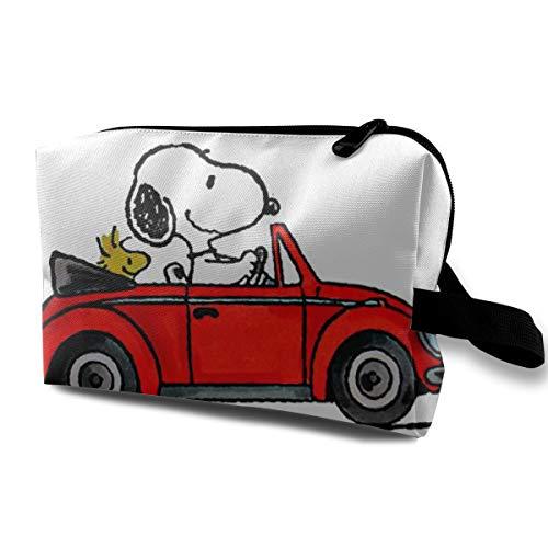 Snoopy - Neceser de Viaje con Cremallera, para Guardar cosméticos, para Mujer