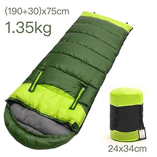 PANXIAO Ultralight Schlafsack Umschlag Typ mit Kompressionssack Tragbarer Geeignet for Camping Wandern Wasserdichten Rucksack-und Outdoor-Aktivitäten (Color : GRE1.35)