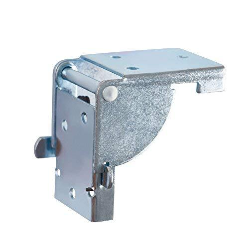 Gedotec Klappbeschlag Tisch-Klappenbeschlag klappbar für Tischbeine und Bänke | Stahl verzinkt | Klappkonsole für Tisch-Füße 38 x 38 mm | MADE IN GERMANY | 1 Stück - Klapptisch-Beschläge