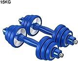 Suge Mancuerna Peso de la Mano con Barra Artículos Deportivos Conjunto de 2 Pesos Body Sculpting Mano con Mancuernas Set - Artículos for Entrenamiento, musculación (Color : 15kg)